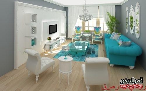 ديكورات صالونات منازل تركية