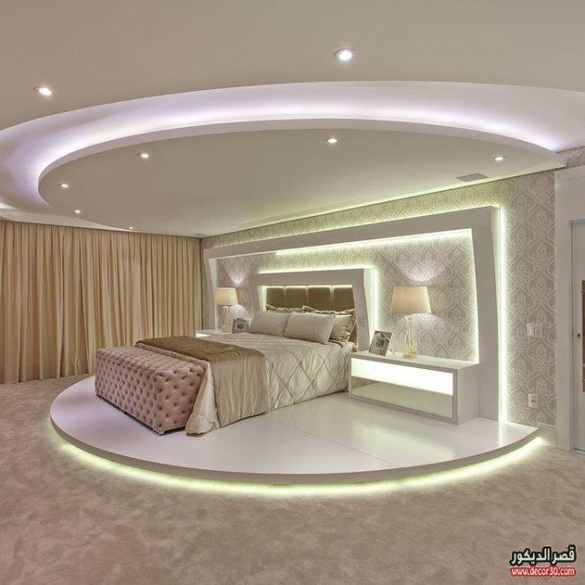 ديكور جبس غرف نوم للعرسان 2019