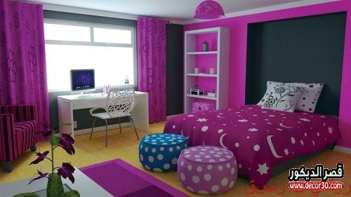 احدث كتالوج لألوان غرف البنات