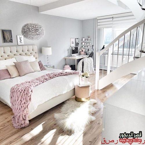 تصاميم غرف نوم بنات مودرن