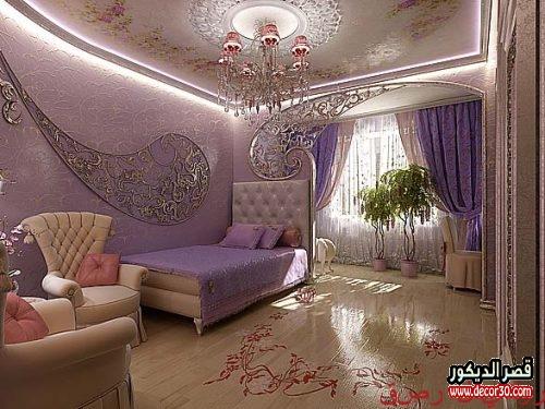 ديكورات جبس اسقف غرف نوم كلاسيك