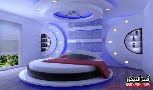 ديكورات جبس اسقف غرف نوم أفكار 2020 Gypsum Bedroom Decor قصر الديكور
