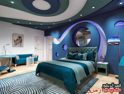 ديكورات جبس اسقف غرف نوم أفكار 2020 Gypsum Bedroom Decor قصر