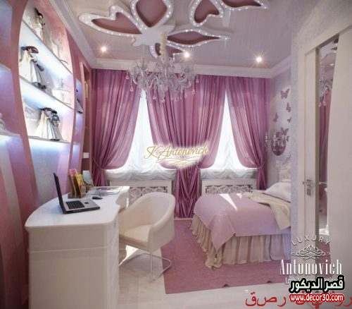 Romantic gypsum bedroom decor