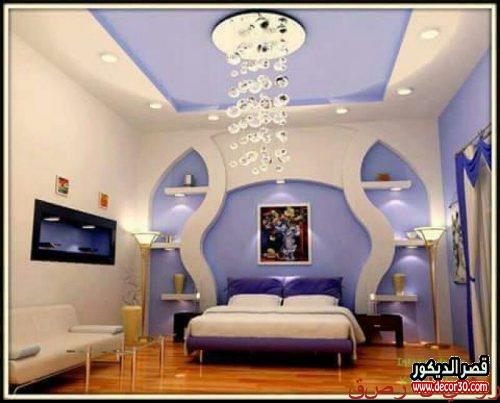 ديكورات حوائط غرف نوم