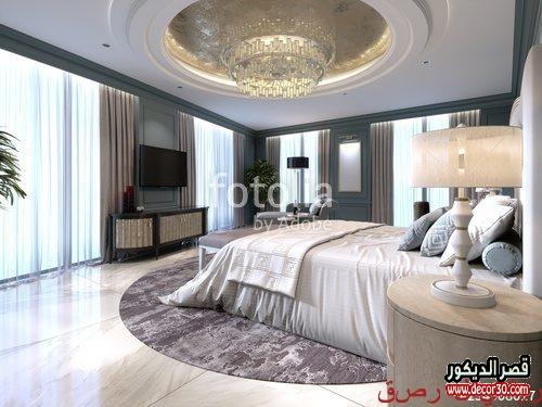 تصميم غرف نوم مع غرفة ملابس وحمام