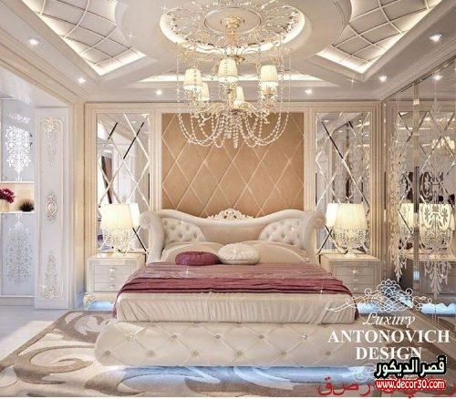 غرف نوم للعرسان فخمة