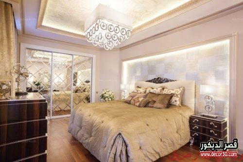 غرف نوم مودرن كاملة بالدولاب