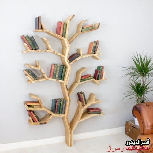 Wood shelves design