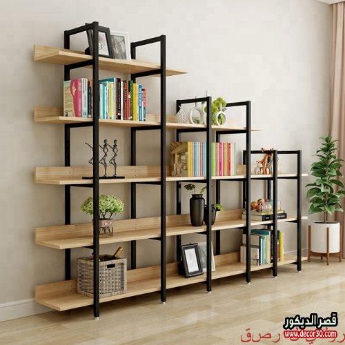 ارفف خشب للكتب