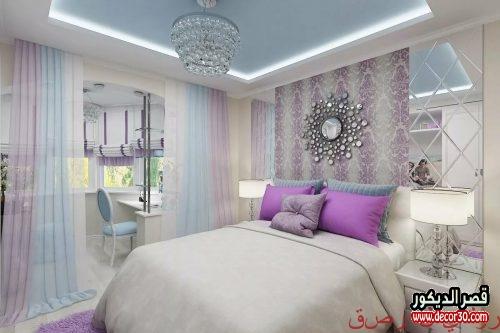 ألوان دهانات غرف نوم رومانسية جديده