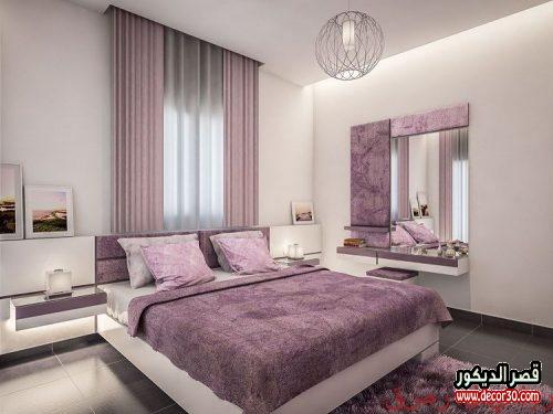 ألوان دهانات غرف نوم رومانسية